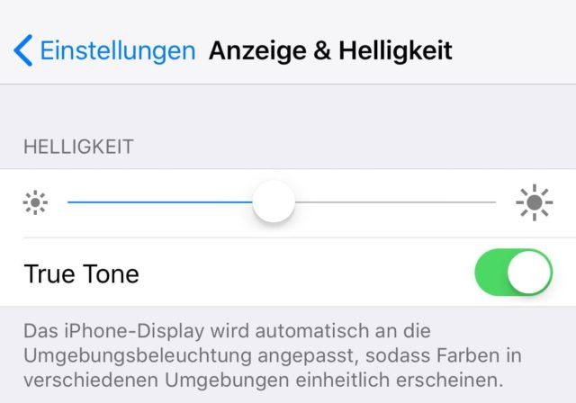 iPhone TrueTone aktivieren