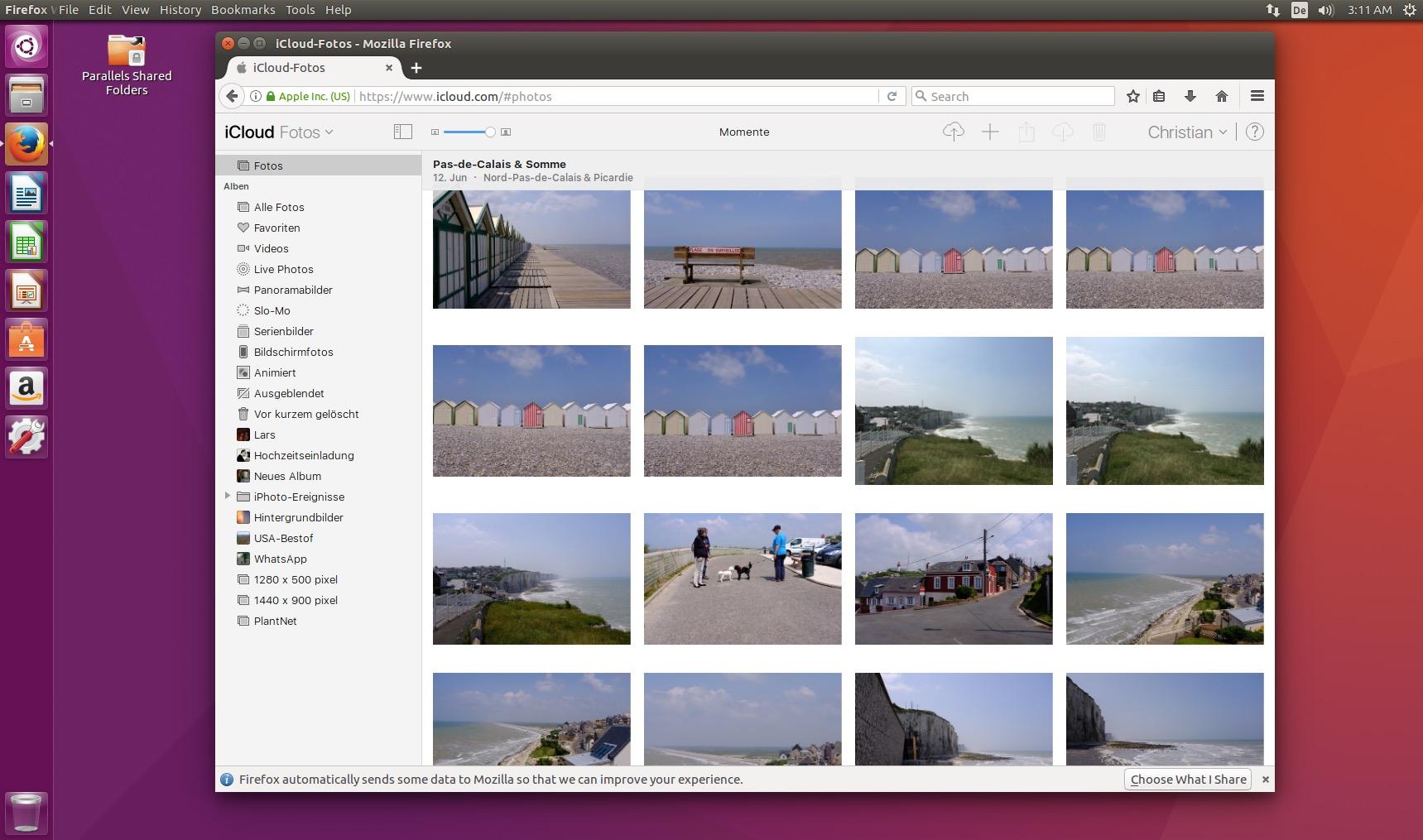 Ihr könnt mit dem Browser unter Ubuntu auf die iCloud zugreifen.