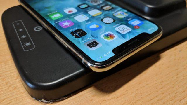 iPhone X Qi laden