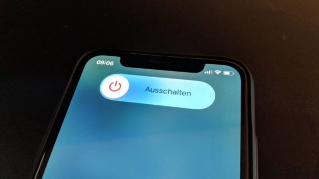 iPhone X ausschalten