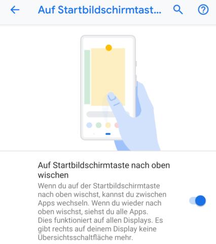 Android 9 Gestensteuerung aktivieren