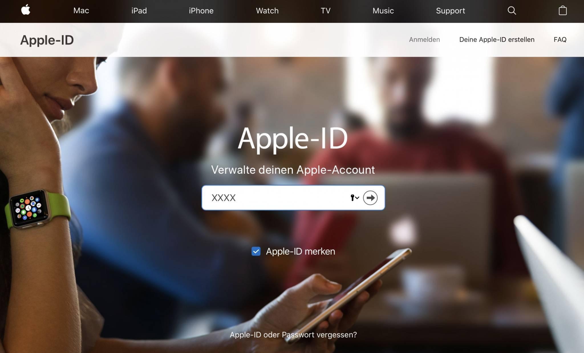 Am sichersten ist es, die Apple-ID über die Apple-ID-Verwaltung zu ändern.