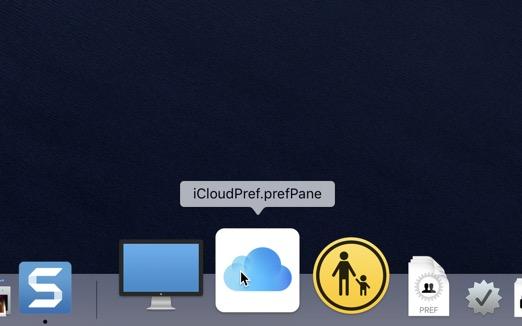 macOS Einstellungen im Dock