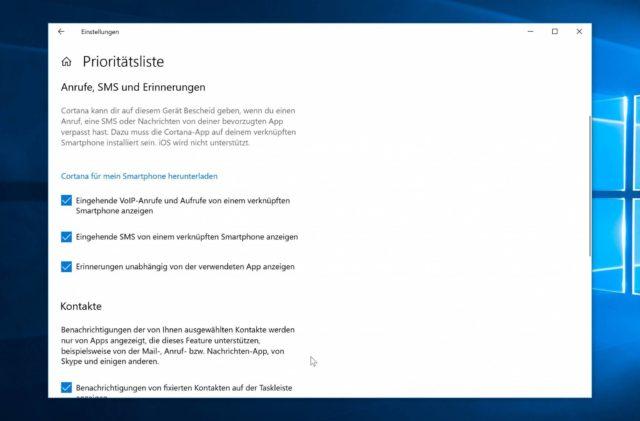 Windows 10 Benachrichtigungsassistent Ausnahmen