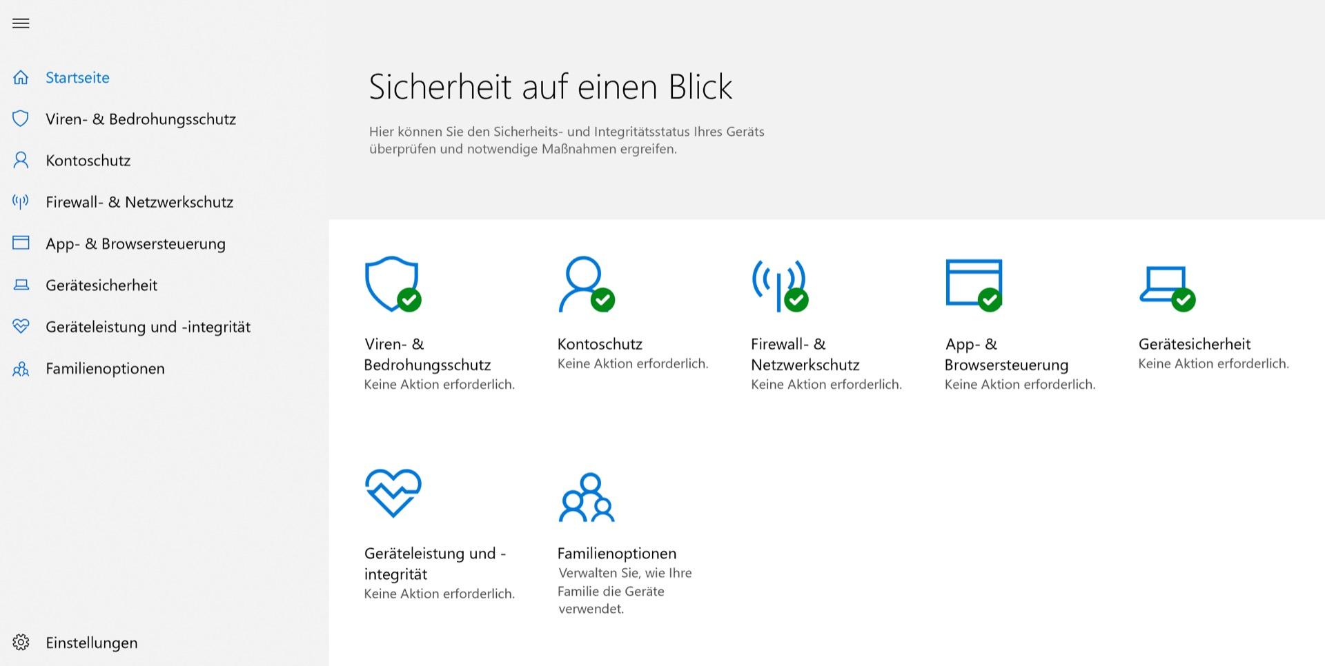 Windows 10 besitzt eine umfangreiche eingebaute Sicherheits-Suite.