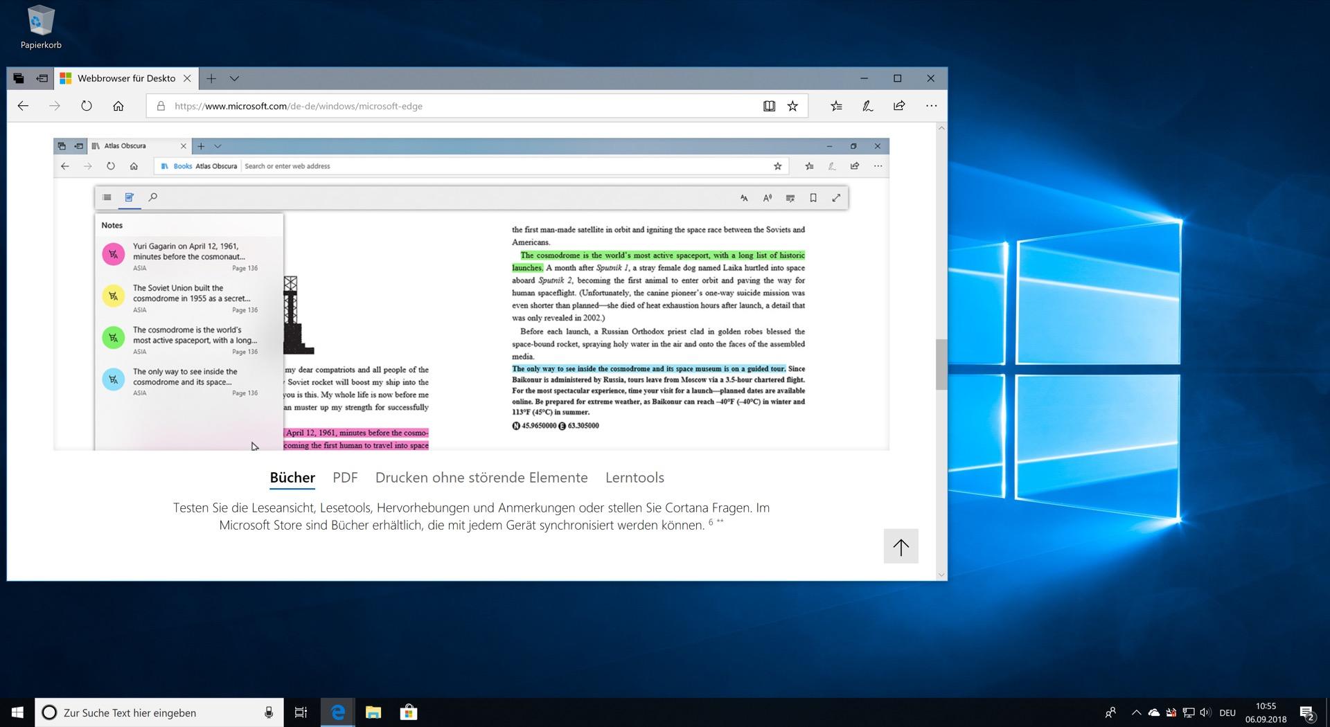 Edge fügt sich auch optisch nahtlos in Windows ein.