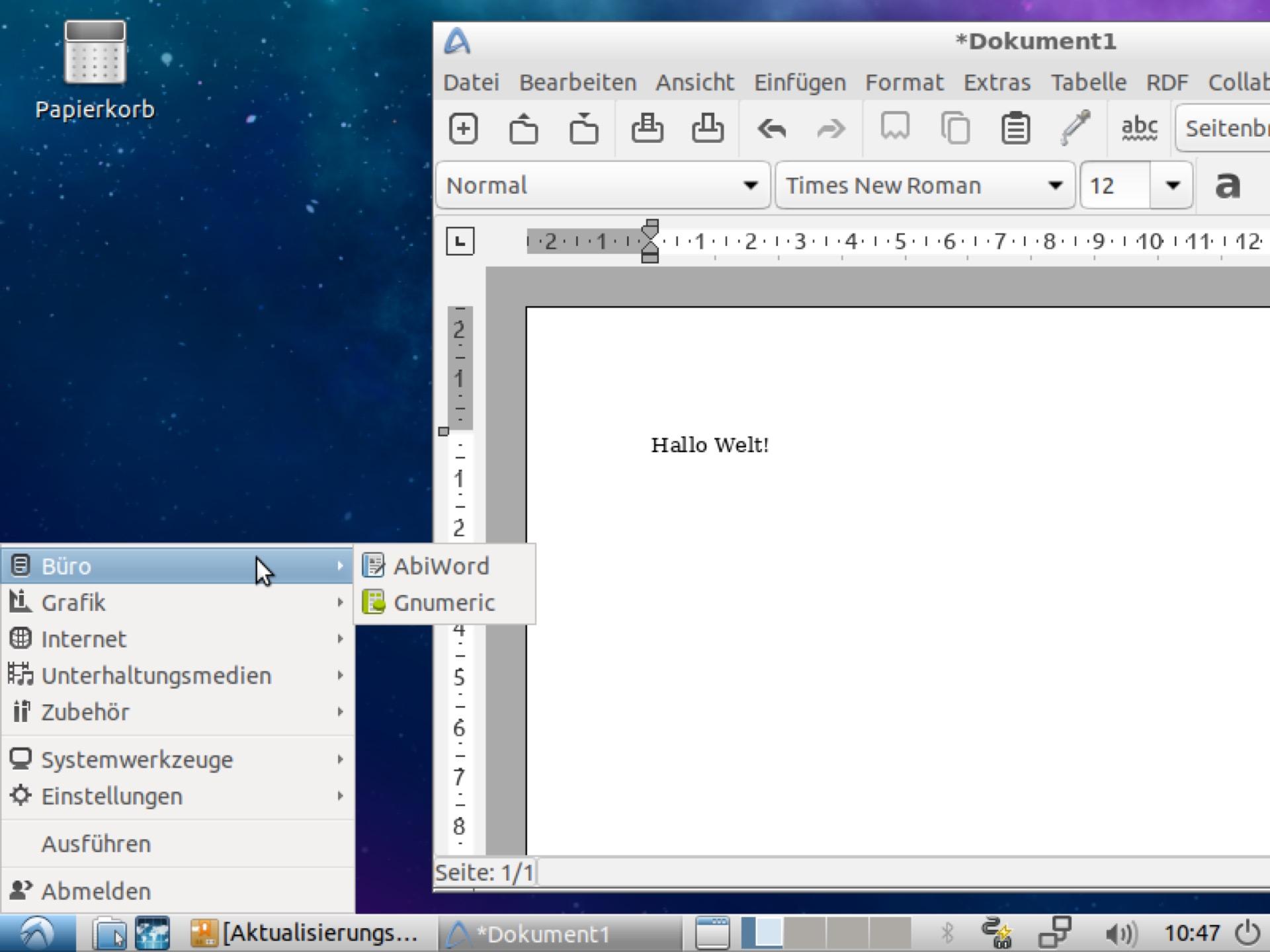Das läuft selbst auf alter Hardware gut: Lubuntu.