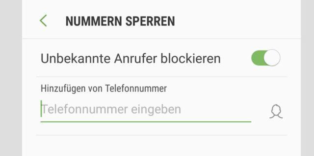 Samsung Anrufer blockieren