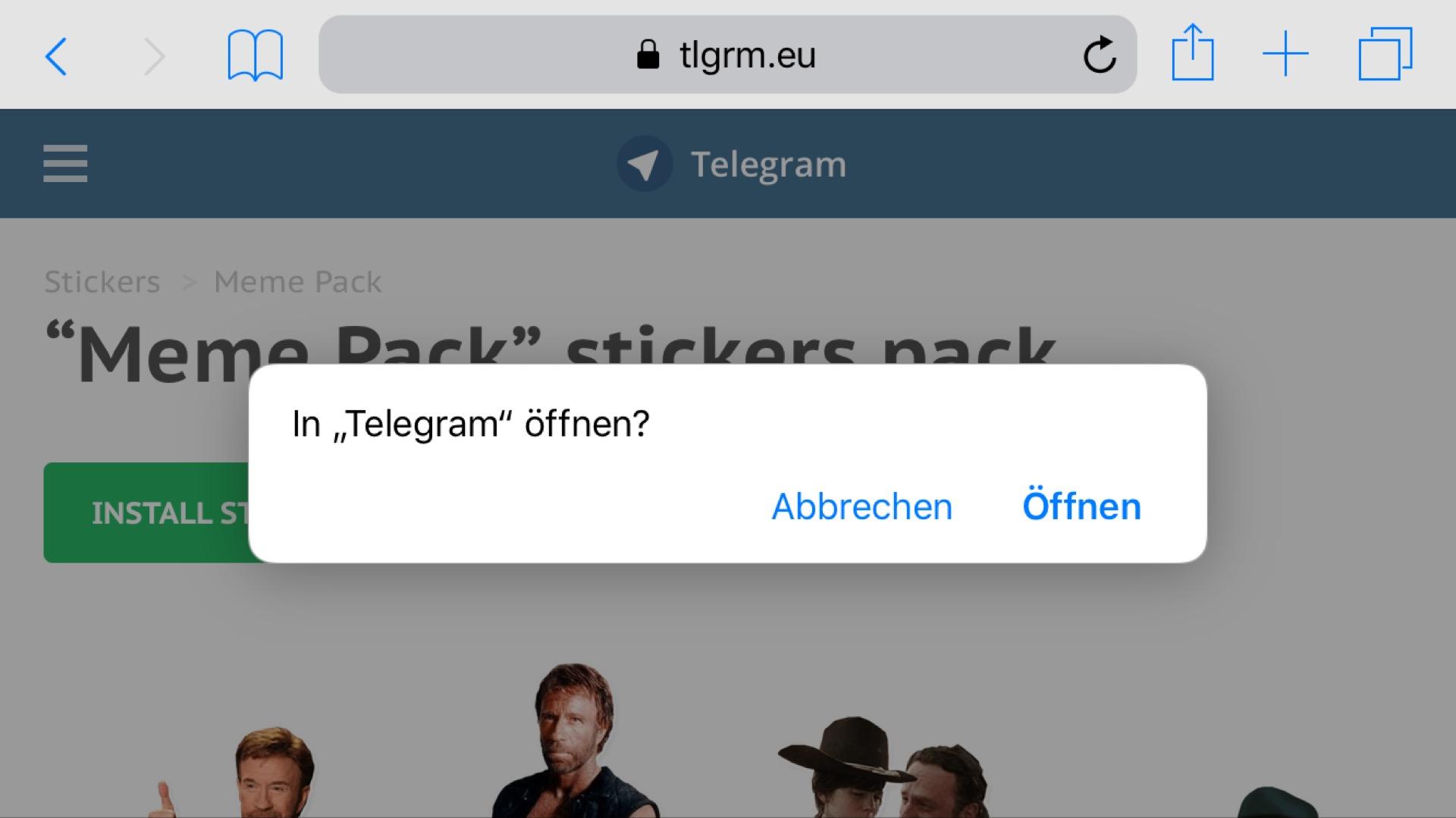 Ihr könnt Telegram-Sticker direkt auf dem iPhone installieren.