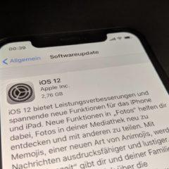 iOS 12 Final Update installieren