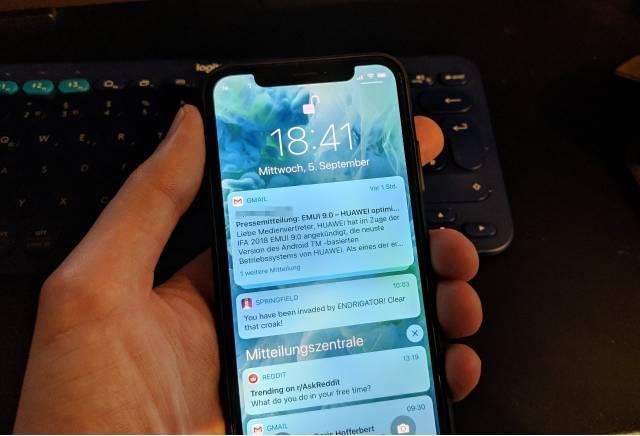iOS 12 iPhone X Benachrichtigungen
