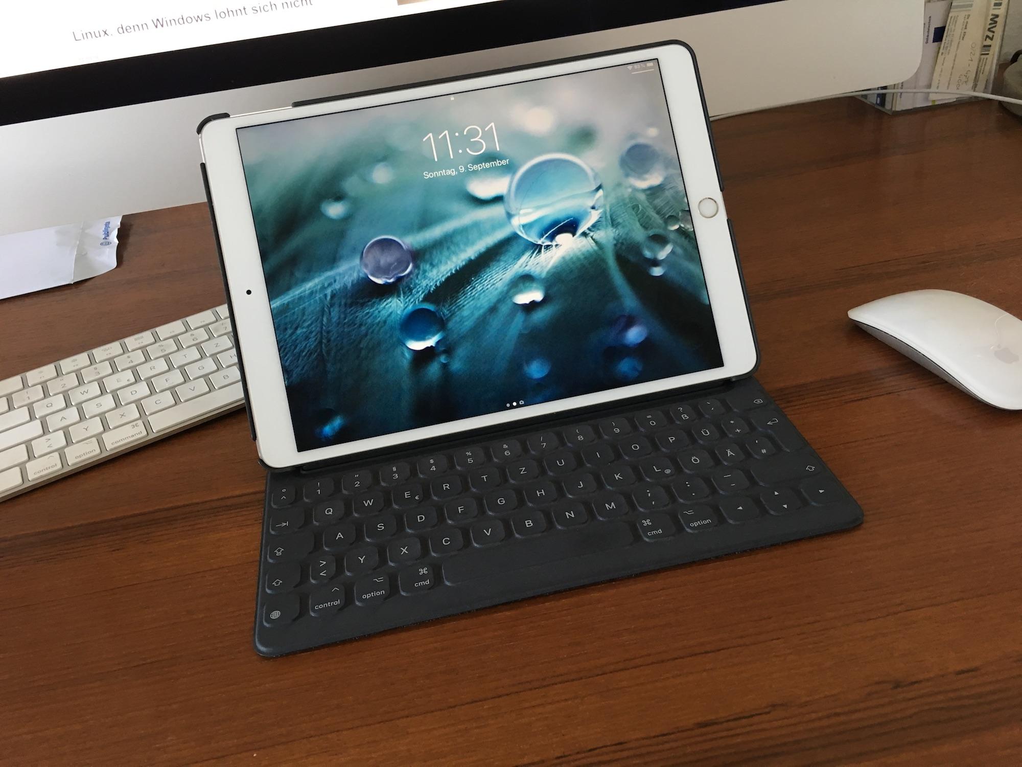 """iPad Pro 10,5"""" mit Smart Keyboard: Gut – aber immer noch doof."""