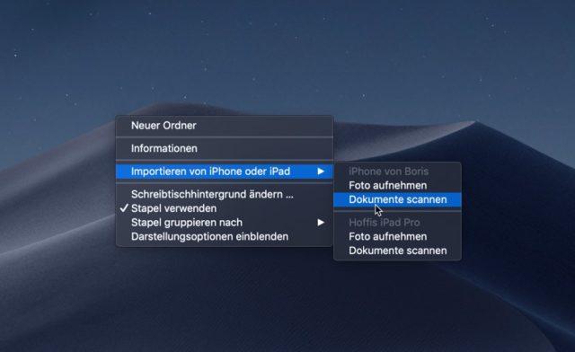 Dokumente Scannen macOS