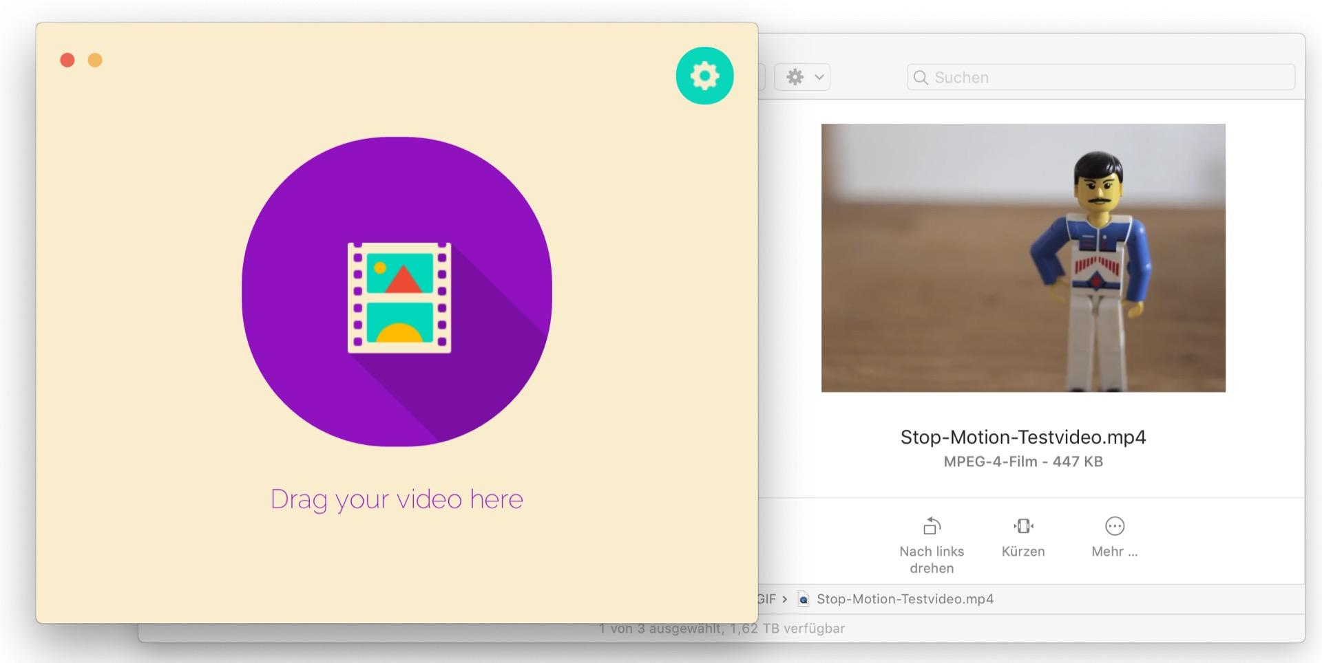Gifrocket verwandelt Videos in animierte GIFs.