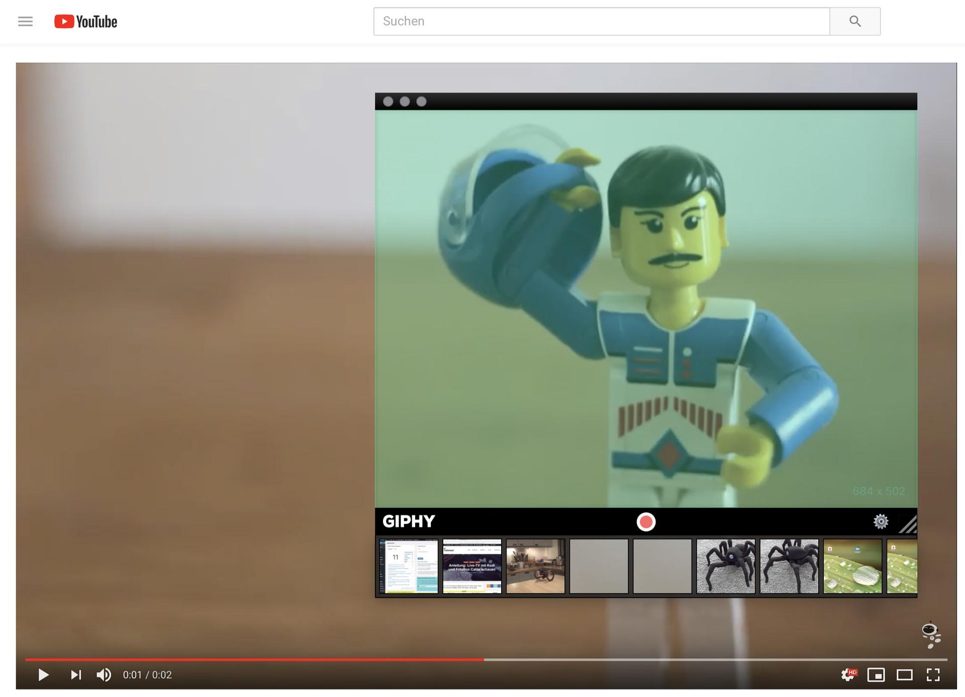 Mit Giphy Capture filmt Ihr einfach den Bildschirm ab.