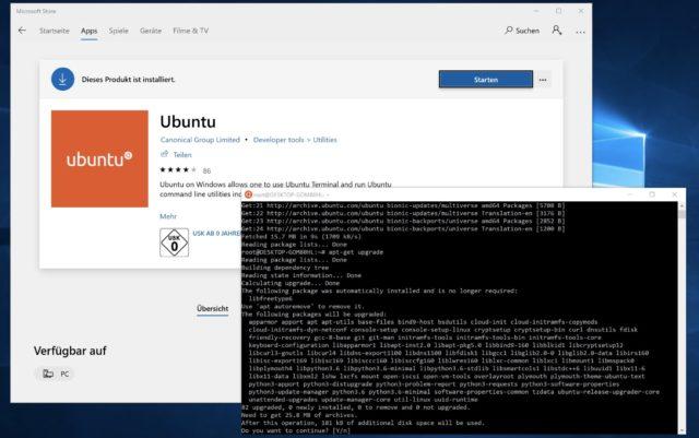 Ubuntu Windows 10 Bash