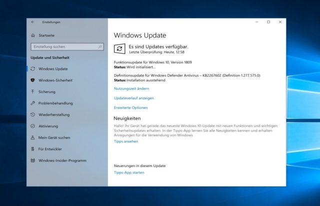 Windows Update Windows 1809