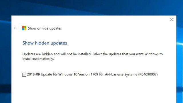 Windows-Updates erlauben