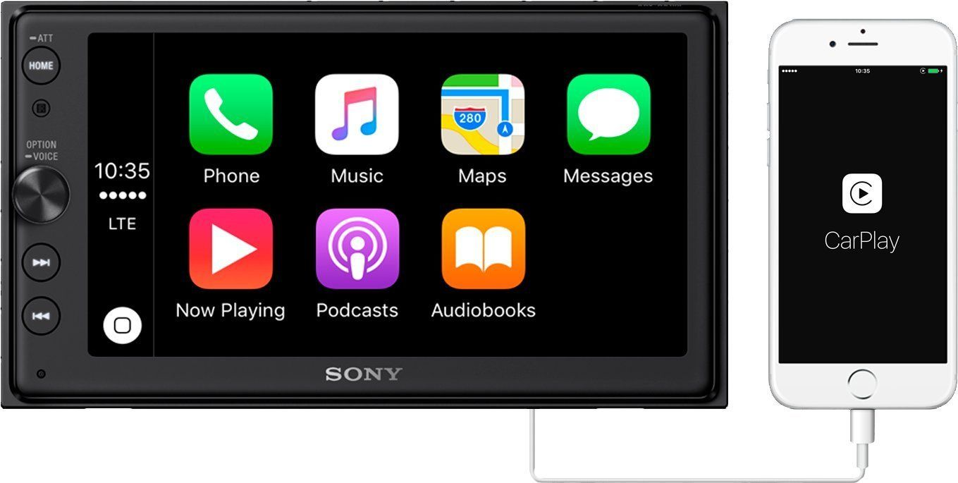 Mit einem Nachrüst-Radio wie dem Sony XAV-AX100 seid Ihr gut beraten, wenn Euer Auto einen Doppel-DIN-Schacht hat. (Bild: Sony)