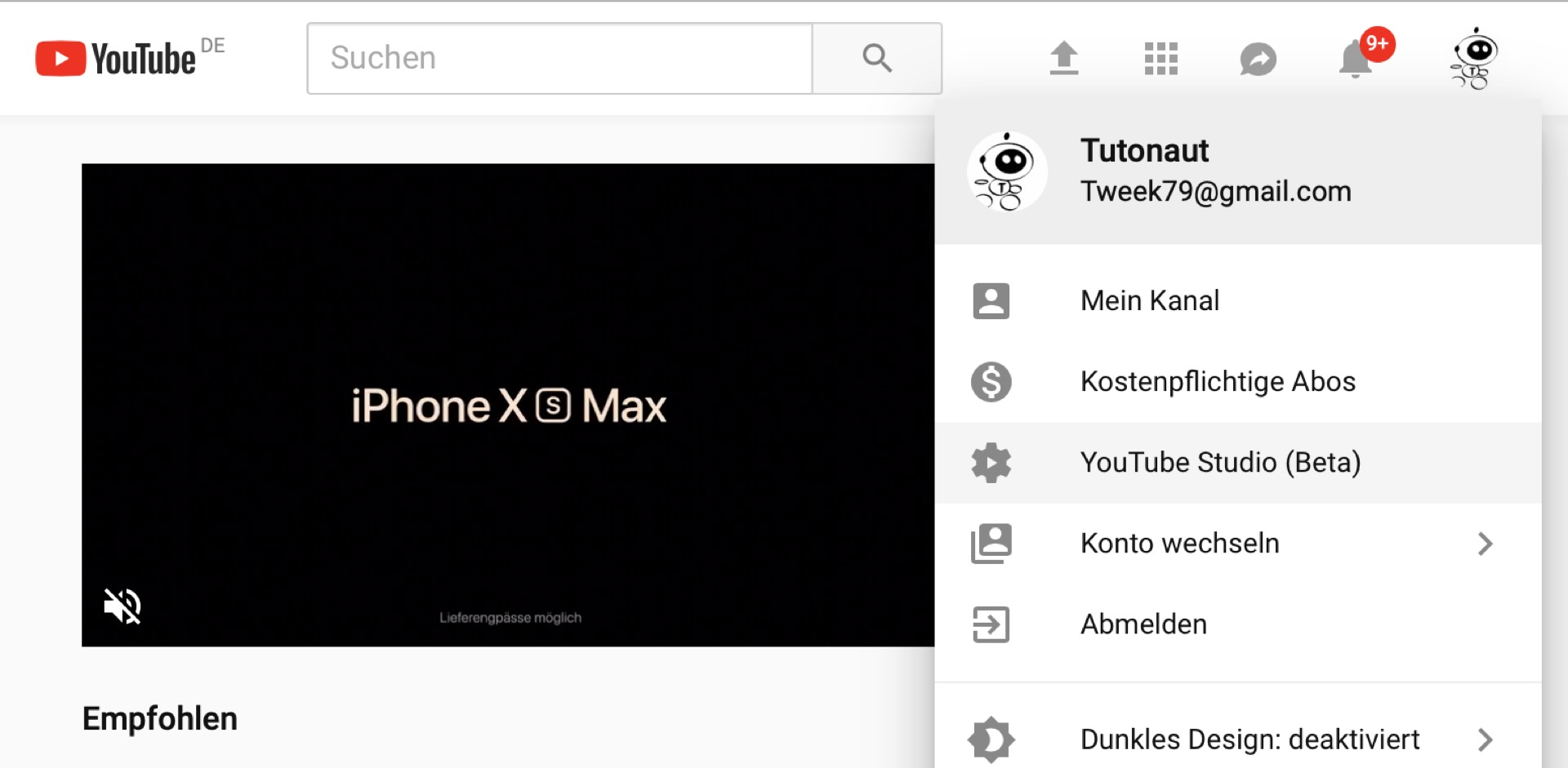 Mit Youtube-Studio könnt Ihr all Eure Videos herunterladen.