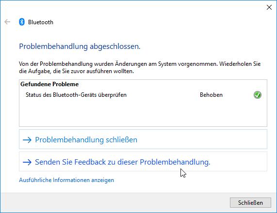 Bluetooth-Probleme