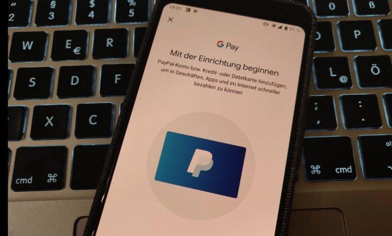 Google Pay Paypal einrichten