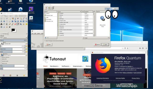 Linux-Anwendungen unter Windows 10