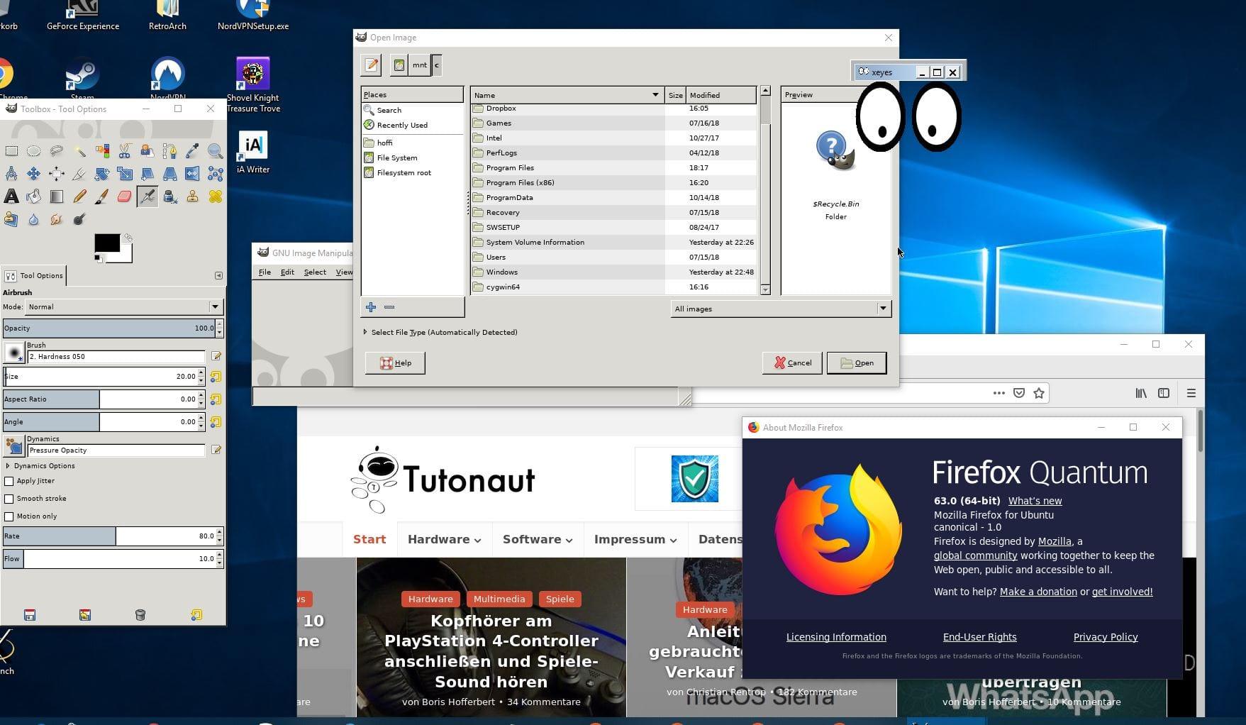 Linux-Apps unter Windows 10