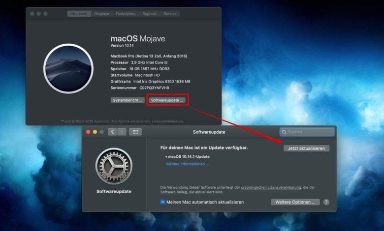 Mojave-Updates installieren