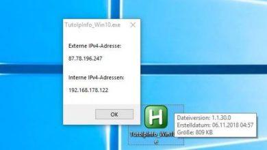 Bild von TutoTools: Externe und interne IP-Adresse per Doppelklick