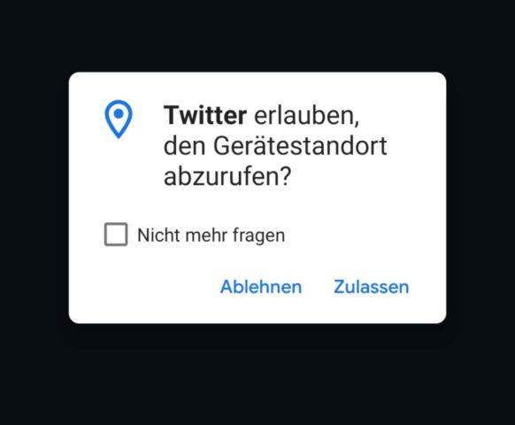 Twitter App Standort