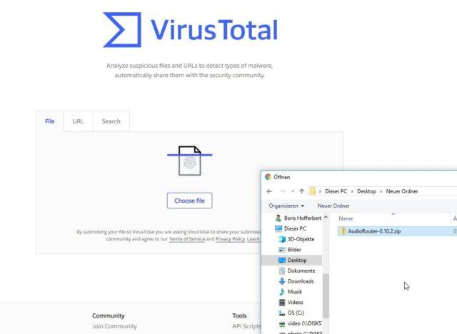 Virustotal Upload
