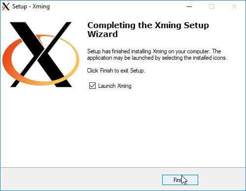 Xming installieren