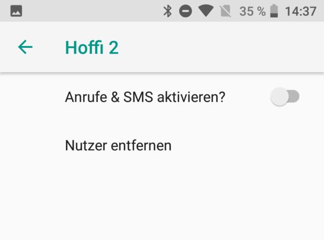 Android Benutzerkonten verwalten