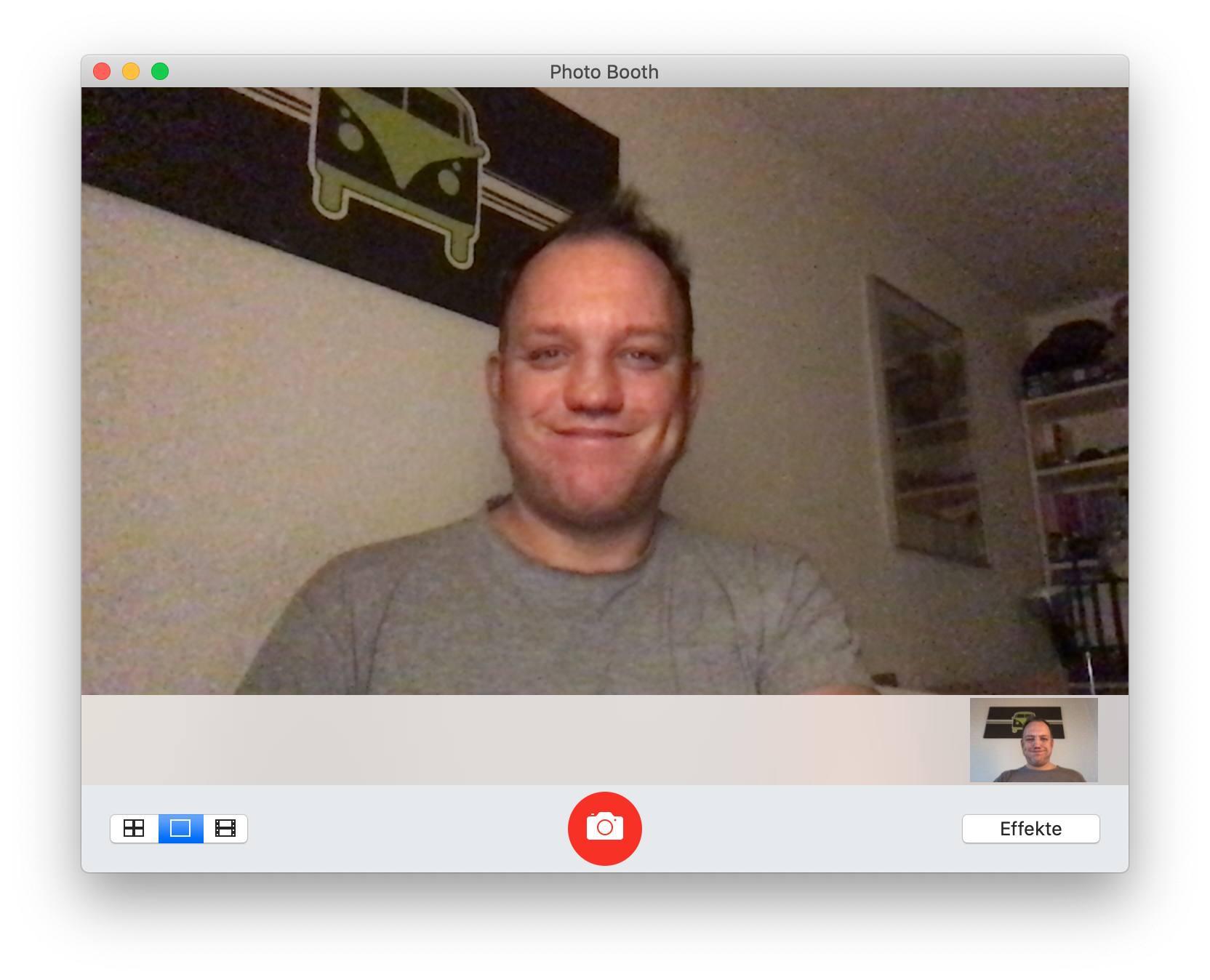 Ja, die Qualität der Webcam ist wirklich so mies. Das Licht war nicht toll, aber das geht gar nicht. (Bild: Tutonaut)