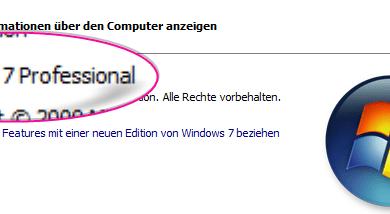 windows 7 ende