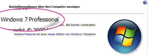 windows 7 ende