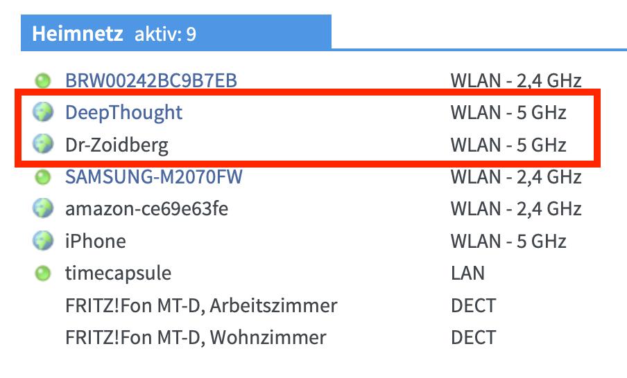Den Gerätenamen könnt Ihr ganz einfach auf Eurem Router prüfen.