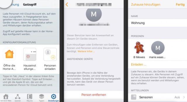 HomeKit-Freigabe Eve App
