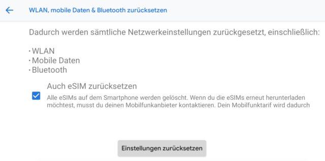 Verbindungsfehler beheben Android