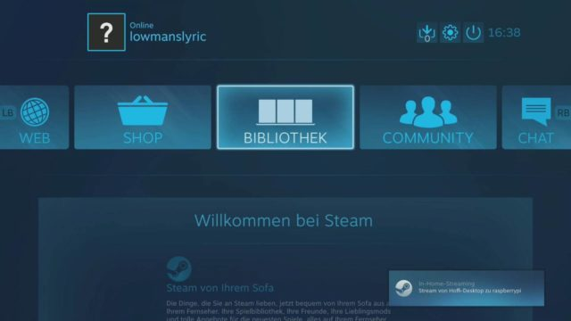 Steam für Raspberry Pi