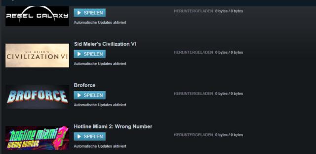 Steam-Update 0 bytes