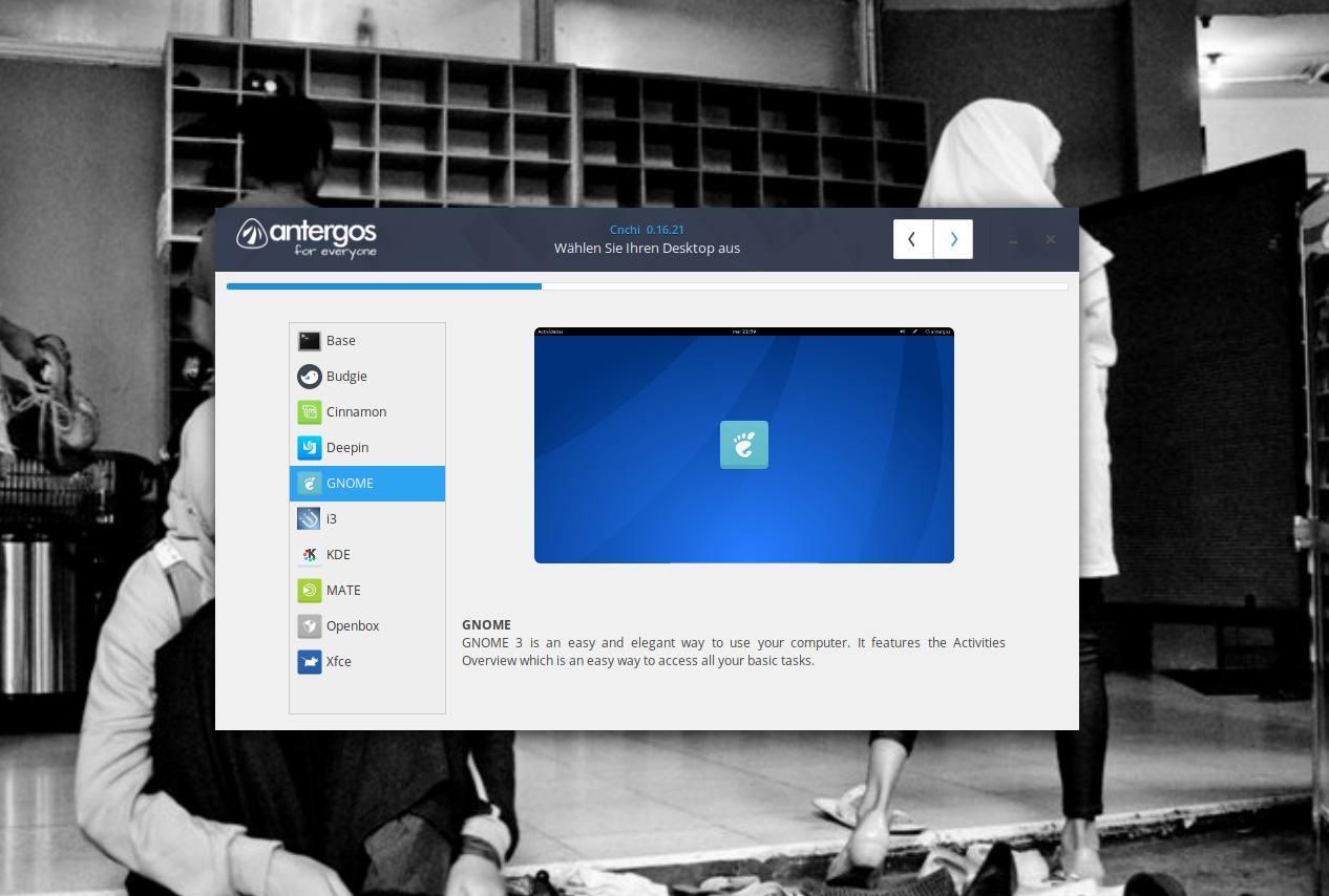 antergos desktops