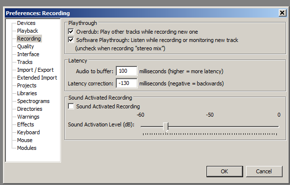 Audacity: Software Playthrough