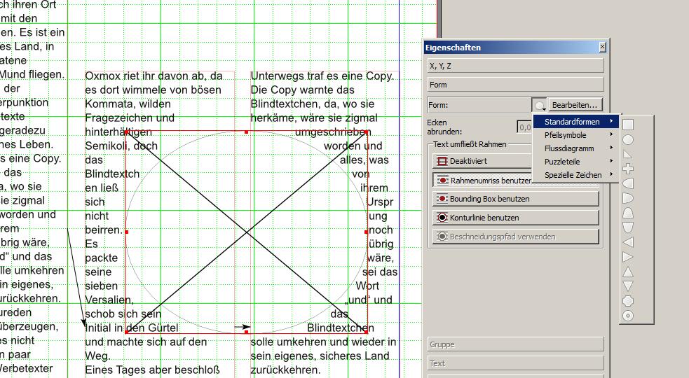 scribus 3 spalten layout