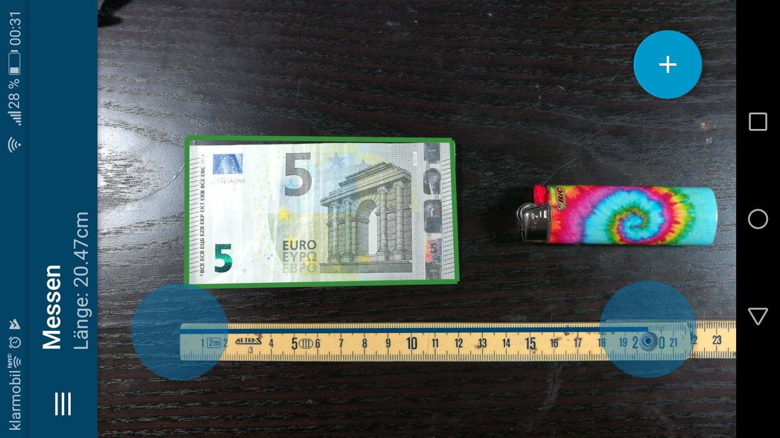 tape measure screenshot