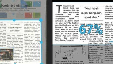 Bild von Android: Dokumente mit Texterkennung scannen