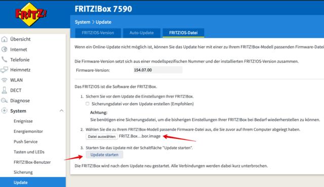 FRITZ Box 7590 Fritz Labor installieren