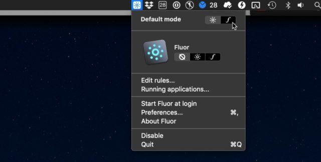 Fluor F-Tasten Mac