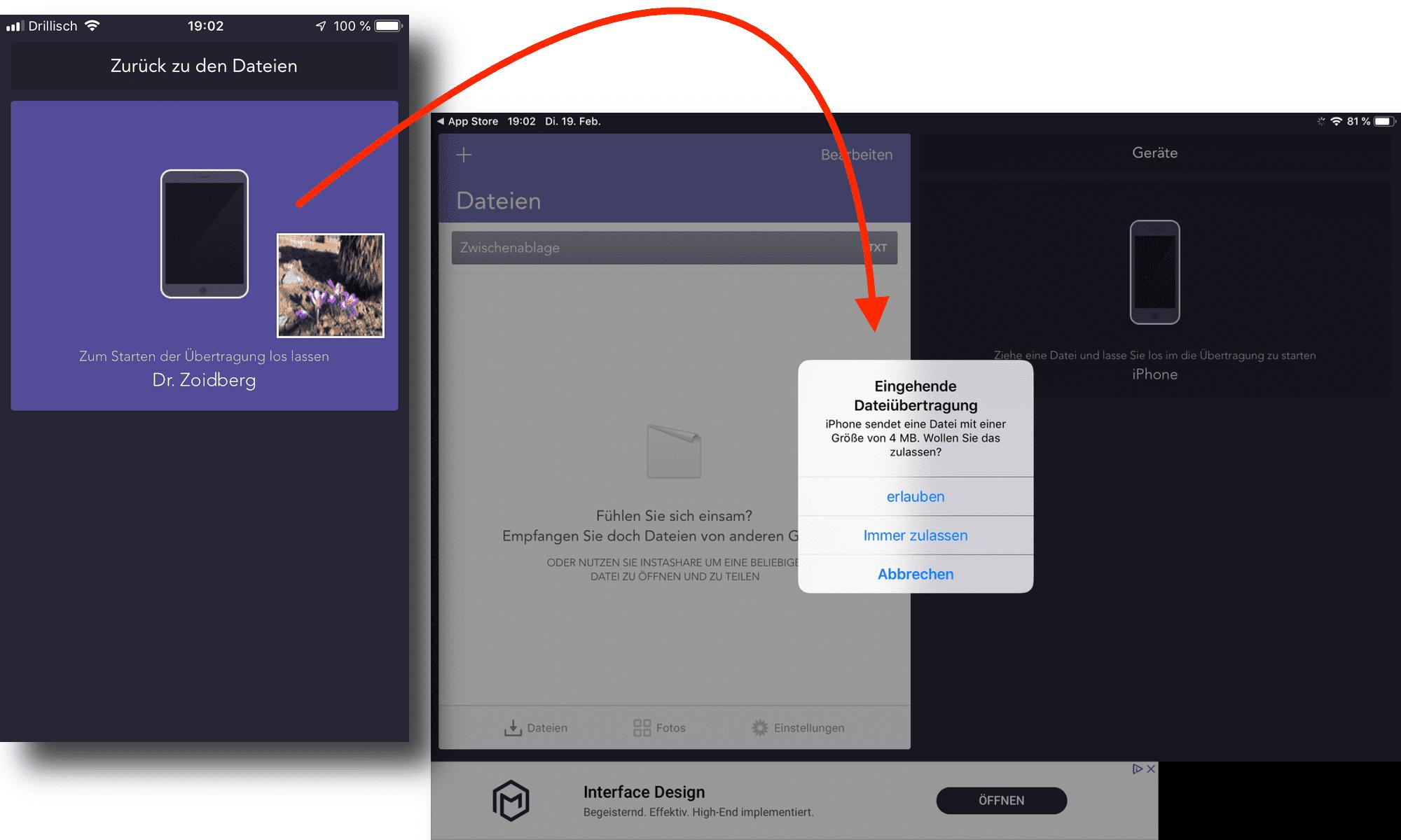 Instashare: AirDrop für Android, Windows und alle Apple-Geräte.